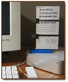 five minute organizer station