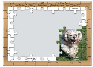 Puzzle with a Cocker Spaniel