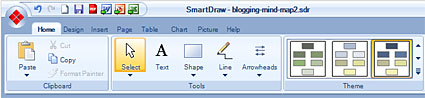 smartdraw ribbon bar