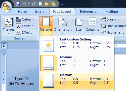 how to show margins in word