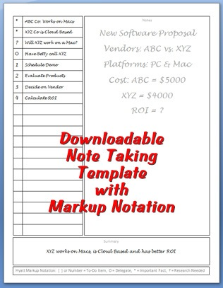 Captivating Note Taking Template And Meeting Note Taking Template
