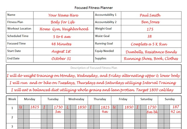 Fitness planner the planner i used to lose 26 pounds in 12 weeks fitness planner template for focused fitness pronofoot35fo Choice Image