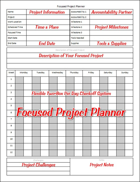 Focused-project-planner