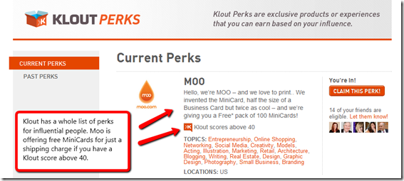 klout-perks