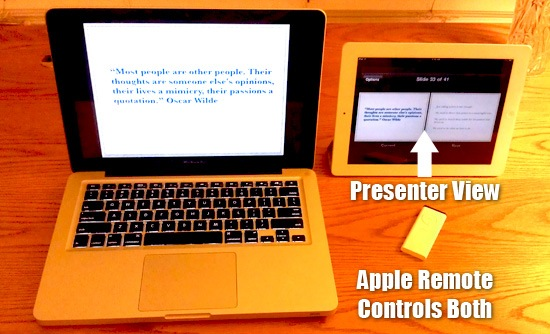 using-a-remote-with-ipad-keynote