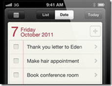 iOS5 to-do-list