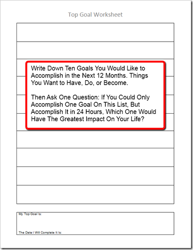 top-goal-worksheet-pic the secret to setting goals