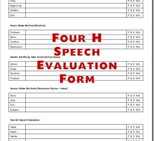 speech evaluation forms