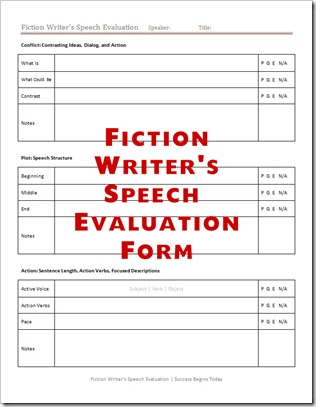 speech evaluation forms give positive feedback to your presenters