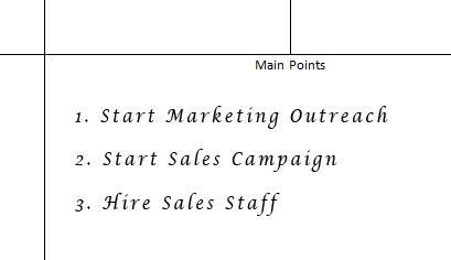 sales notes template