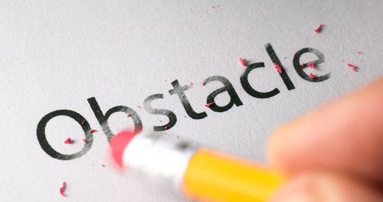 Erasing obstacle