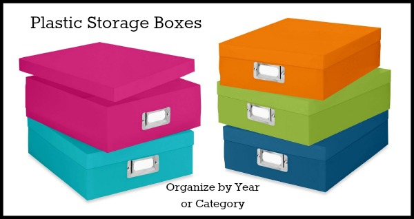colorful plastic storage boxes
