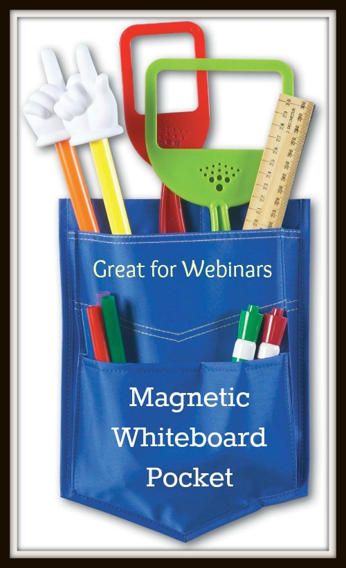 Magnetic whiteboard pocket