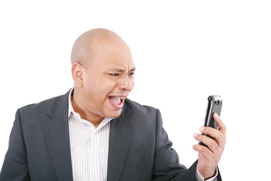 Man On Cell Phone : Is your planner ruling life