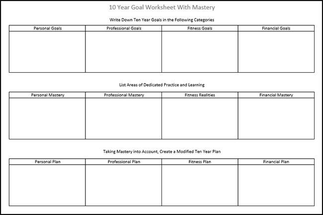 10-year-goals-worksheet