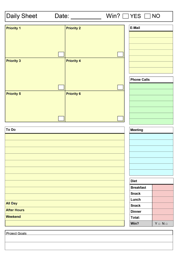 daily productivity planner Success