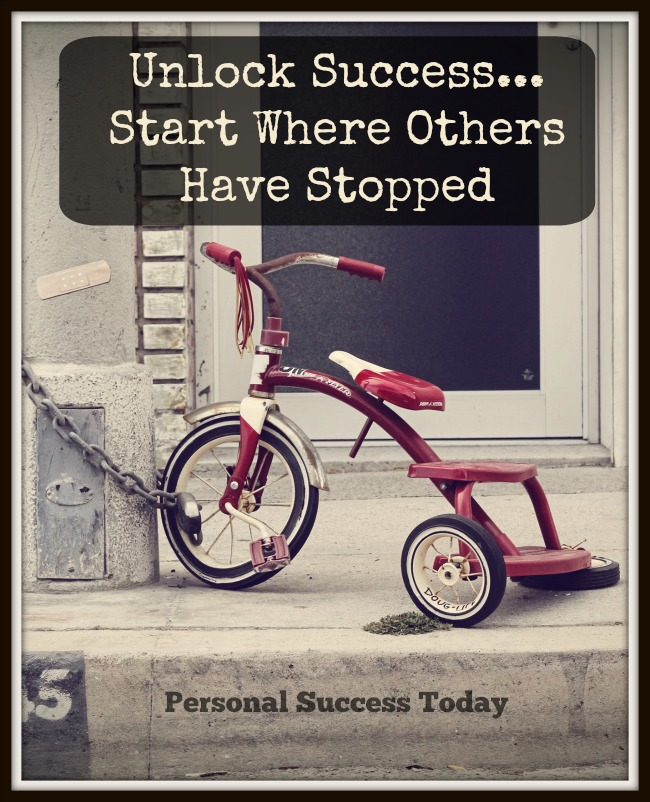 start where others have stopped.