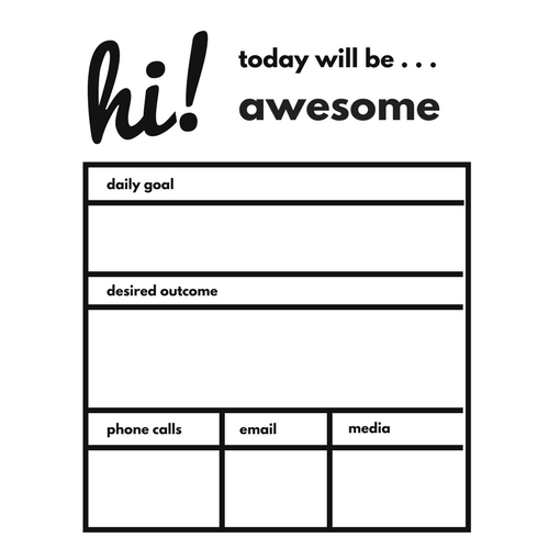 Short Term Goal Setting Worksheet