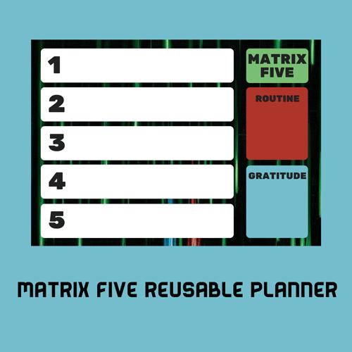 Printable: Creating an Erasable Action Planner