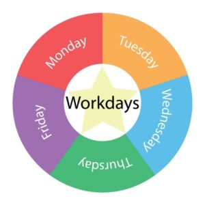 five day workdays