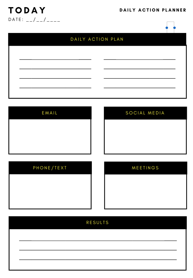 Elegant Action Plan Template Throughout Daily Action Plan Template