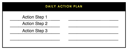 daily action plan template action list